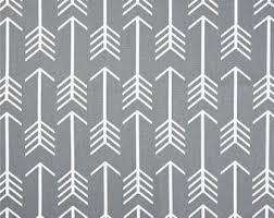White And Grey Curtains Arrow Curtains Etsy