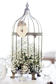 baby u0027s breath in a birdcage for the dinner table u0027s centrepiece