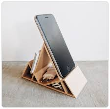 telephone stand desk organizer wooden minimalist geometric desk organizer phone stand modiden