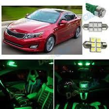 Optima Kia Interior 12x Led Interior Package Bright Green Interior Car Bulb For 2011