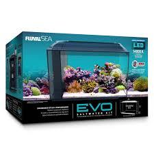 fluval edge marine light fluval evo marine aquaium kit with reef led lights 57 ltr