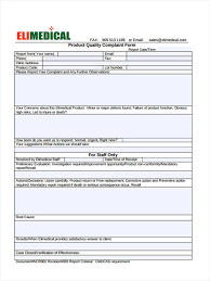 workplace investigation report template 30 different types of complaint forms product quality complaint form