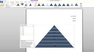 tutorial youtube word microsoft word tutorial how to create a smartart pyramid youtube