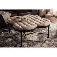 Black Microfiber Ottoman Baxton Studio Branagh Tufted Coffee Table Ottoman With Black Metal