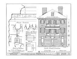 Charleston Floor Plan Historic House Plan Drawings Of Charleston South Carolina J