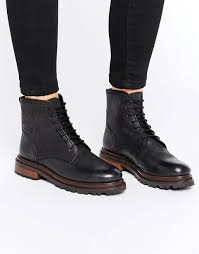 womens boots unique h by hudson lingshaw lace up boot black leather boots h by