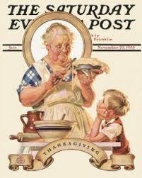 vintage saturday evening post w thanksgiving pie