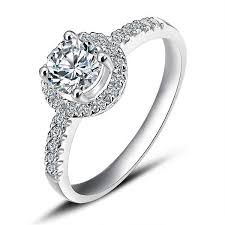 white gold engagement rings cheap halo engagement ring on white gold jewelocean
