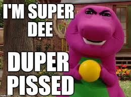 Barney Meme - barney s upset guys imgflip