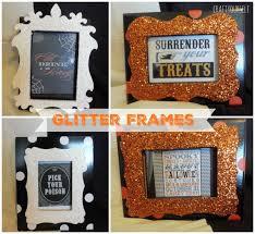 halloween glitter frames craft