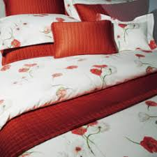 Red Bedding Floral Cotton Bedding