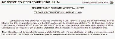 can candidate who lost afcat admit card afsb ssb call letter
