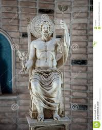 Greek God Statues by Zeus Statue God Of Sky And Thunder In Greece Stock Photo Image