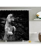 White Tiger Shower Curtain Bargains On Safari Decor Shower Curtain Set Fire Power Tiger
