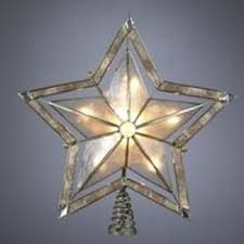 Lighted Star Christmas Tree Topper Ge 10 In Capiz Lighted Incandescent Capiz Star Christmas Tree