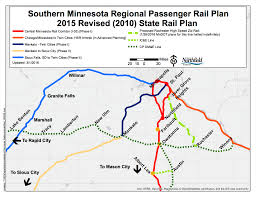 Map Of Minnesota Cities Central Mn Passenger Rail Initiative
