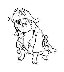 pug dog pirate coloring color luna