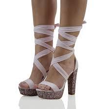 ribbon heels shoes pink lace up heels lace up heels ribbon heels glitter