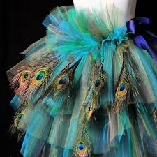 Peacock Halloween Costumes Teal Turquoise Purple Peacock Feather Trashy Bustle Mtcoffinz