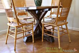 Kitchen Table Pedestals Ana White Square X Base Pedestal Dining Table Diy Projects