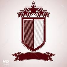 Luxurious Decorative Element Vector Aristocratic Symbol Festive Graphic Shield With Five
