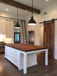 farmhouse kitchen island ideas kitchen island lights barn door ship beams home
