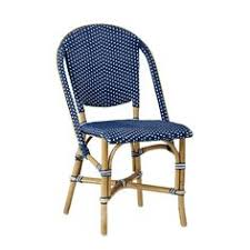 Single Bistro Chair Navy Kaliko Outdoor Bistro Chairs Set Of 2 World Market