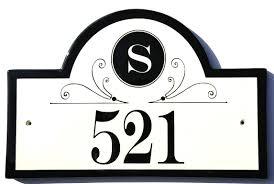 Monogram Plaques Address Plaques Gallery Ceramic Address Plaques Ceramic House