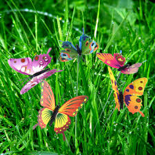 outdoor garden decor garden decor 36 pcs 8cm butterfly stakes party supplies