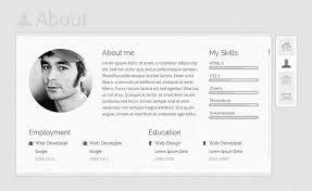Css Resume Resume Template Website John Bootstrap One Page Html5 Free Resume