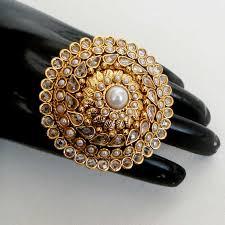 big fashion rings images Awesome india polki fashion jewelry gold plated designer big jpg
