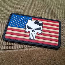 State Flag Velcro Patches Punisher Kitty American Flag Neo Tactical Gear