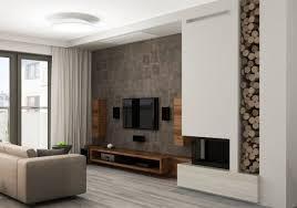 steinwand wohnzimmer montage 2 fernseher wand montieren wohnzimmer holz sideboard lautsprecher