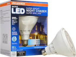 Exterior Led Flood Light Bulbs by Sylvania Ultra Led Night Chaser Par38 250w Equivalent 2400 Lumen