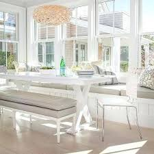corner bench dining room table dining room bench white x base dining table with gray leather dining