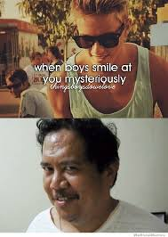 Boys Meme - when boys smile at you mysteriously weknowmemes