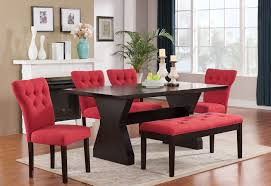 Stunning  Red Dining Room  Design Decoration Of  Red - Red kitchen table and chairs