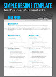 Resume Header Template Resume Template Indesign Clean Business Resume 27 Creative