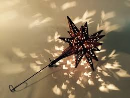 Lighted Christmas Star Tree Topper by Tin Moravian Star Lighted Tree Topper Copper Finish Custom Metal