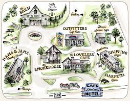 Map Of Nashville The Loveless Cafe Real Southern Food