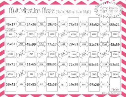 great way to practice two digit by two digit multiplication 4th