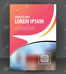 brochure cover layout design print template pamphlet vector