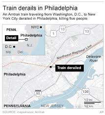 Amtrak Northeast Regional Map by 8 People Killed In Amtrak Train Crash In Philadelphia Business