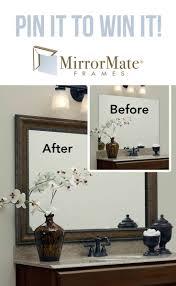 framed mirrors for bathroom diy best bathroom decoration