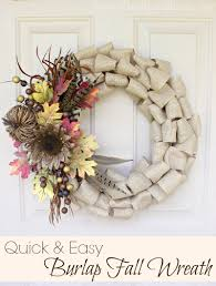 easy burlap fall wreath tutorial of family home