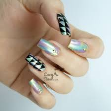 patterned acrylic nails how you can do it at home pictures