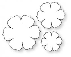 papertrey ink beautiful blooms ii 1 die collection set of 3