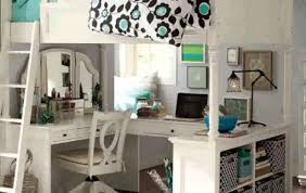 White Wood Loft Bed With Desk by Bedroom Bunk Beds With A Desk Bunk Beds For Teenager Lofted Bed