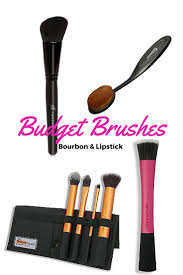 beauty on a budget makeup brushes bourbon lipstick and stilettos