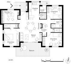 plan plain pied 5 chambres superbe plan de maison plain pied 5 chambres 1 plan chalet plain